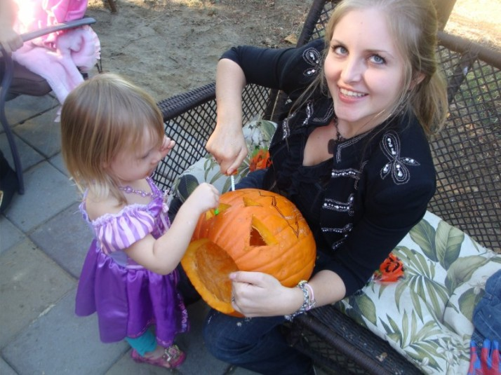 Holloween with my daughter Elena 2012